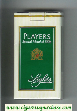 Players Special Menthol Lights 100s cigarettes soft box