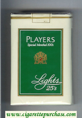 Players Special Menthol Lights 100s 25 cigarettes soft box