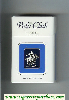 Discount Polo Club Lights American Flavour cigarettes hard box