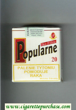 Popularne Bez Filtra white cigarettes soft box