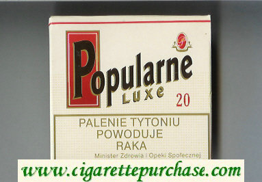 Popularne Luxe white cigarettes wide flat hard box