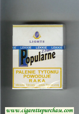 Popularne Lights Z Filtrem white cigarettes hard box