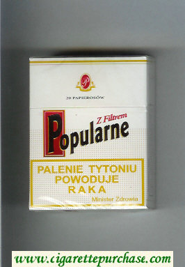 Popularne Z Filtrem white cigarettes hard box