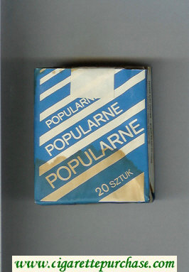 Popularne blue and white cigarettes soft box
