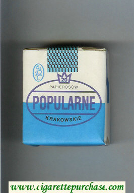 Popularne Krakowskie blue and white cigarettes soft box