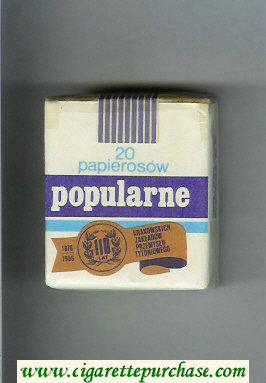 Popularne white and blue cigarettes soft box
