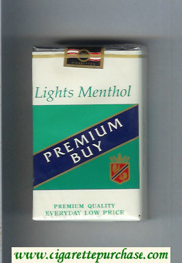 Premium Buy Lights Menthol cigarettes soft box