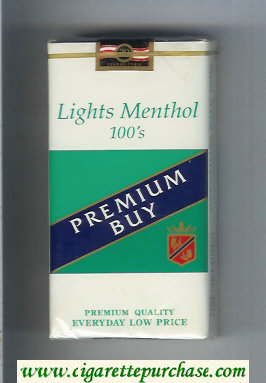 Premium Buy Lights Menthol 100s cigarettes soft box