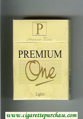 Premium One American Blend Lights cigarettes hard box
