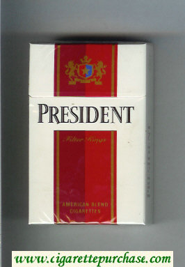 Discount President American Blend cigarettes hard box