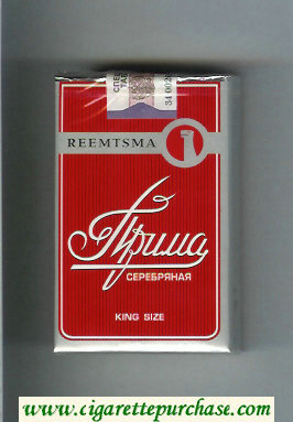 Prima Serebryanaya Reemtsma red cigarettes soft box