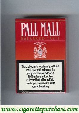 Discount Pall Mall Balanced Taste cigarettes hard box