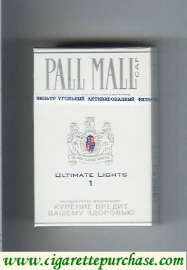 Discount Pall Mall Caf 1 Ultimate Lights Cigarettes hard box