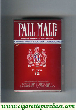 Discount Pall Mall Caf 12 Filter cigarettes hard box