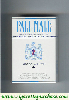 Discount Pall Mall Caf 4 Ultra Lights Cigarettes hard box