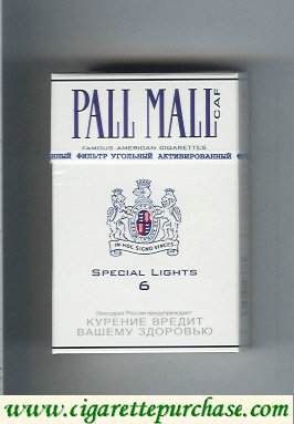 Discount Pall Mall Caf 6 Special Lights Cigarettes hard box
