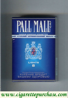 Discount Pall Mall Caf 8 Lights Cigarettes hard box