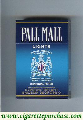 Discount Pall Mall Charcoal Filter Lights cigarettes hard box