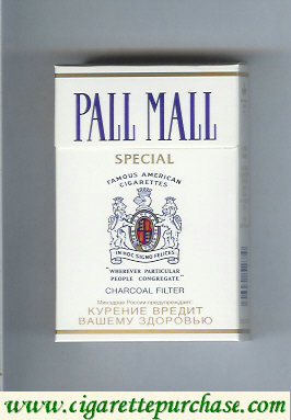 Discount Pall Mall Charcoal Filter Special cigarettes hard box