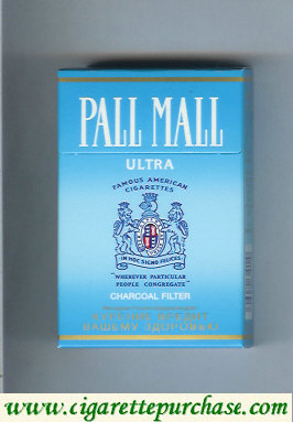 Discount Pall Mall Charcoal Filter Ultra cigarettes hard box