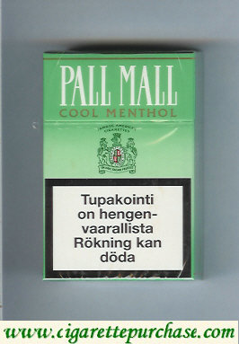 Discount Pall Mall Cool Menthol cigarettes hard box