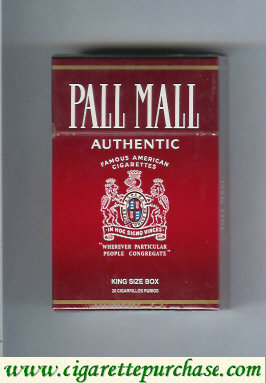 Discount Pall Mall Famous American Cigarettes Authentic cigarettes hard box