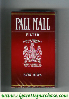 Discount Pall Mall Famous American Cigarettes Filter 100s cigarettes hard box