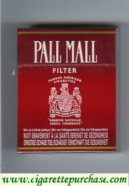 Discount Pall Mall Famous American Cigarettes Filter 25s cigarettes hard box