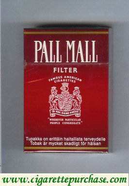 Discount Pall Mall Famous American Cigarettes Filter cigarettes hard box