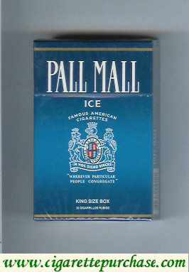 Discount Pall Mall Famous American Cigarettes Ice cigarettes hard box
