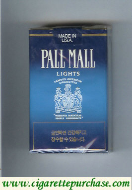 Discount Pall Mall Famous American Cigarettes Lights cigarettes soft box