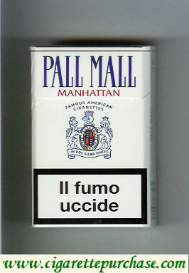 Discount Pall Mall Famous American Cigarettes Manhattan cigarettes hard box