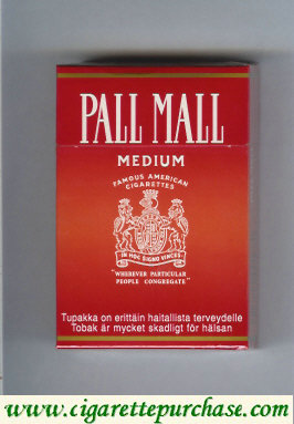 Discount Pall Mall Famous American Cigarettes Medium cigarettes hard box