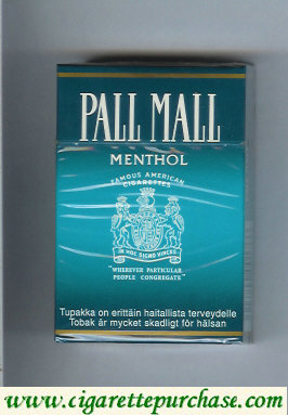 Pall Mall Famous American Cigarettes Menthol cigarettes hard box