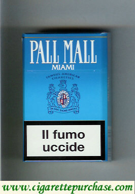 Discount Pall Mall Famous American Cigarettes Miami cigarettes hard box
