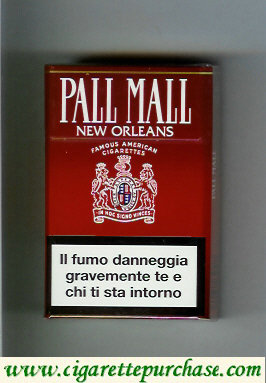 Discount Pall Mall Famous American Cigarettes New Orlean cigarettes hard box