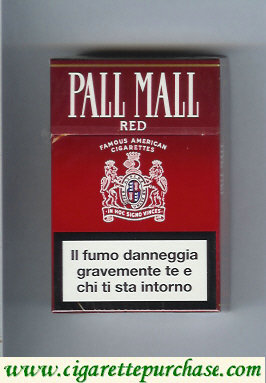 Discount Pall Mall Famous American Cigarettes Red cigarettes hard box