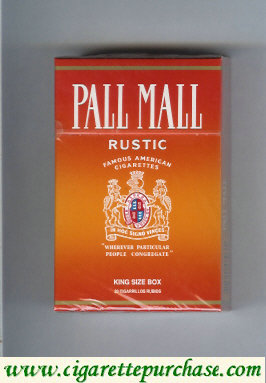 Discount Pall Mall Famous American Cigarettes Rustic cigarettes hard box