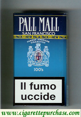 Discount Pall Mall Famous American Cigarettes San Francisco 100s cigarettes hard box