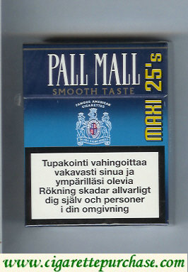 Discount Pall Mall Famous American Cigarettes Smooth Taste 25s cigarettes hard box