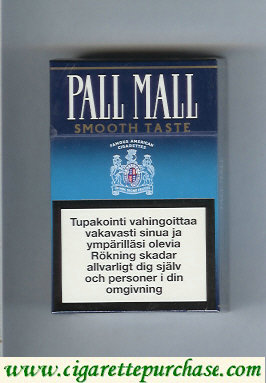 Discount Pall Mall Famous American Cigarettes Smooth Taste cigarettes hard box