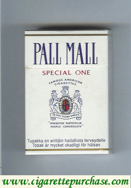 Pall Mall Famous American Cigarettes Special One cigarettes hard box