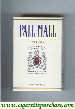 Discount Pall Mall Famous American Cigarettes Special Super Lights cigarettes hard box