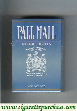 Discount Pall Mall Famous American Cigarettes Ultra Lights cigarettes hard box