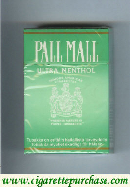 Discount Pall Mall Famous American Cigarettes Ultra Menthol cigarettes hard box