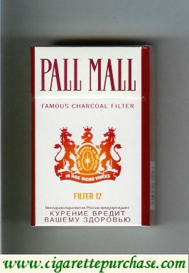Discount Pall Mall Famous Charcoal Filter Filter 12 cigarettes hard box