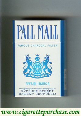 Discount Pall Mall Famous Charcoal Filter Special Lights 6 cigarettes hard box