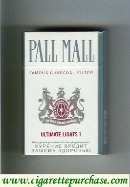 Discount Pall Mall Famous Charcoal Filter Ultimate Lights 1 cigarettes hard box