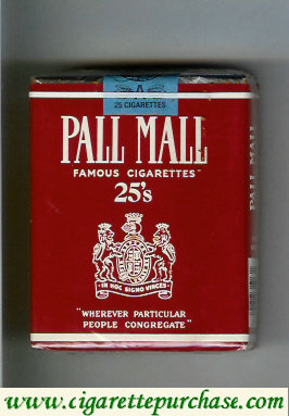 Discount Pall Mall Famous Cigarettes 25s cigarettes soft box