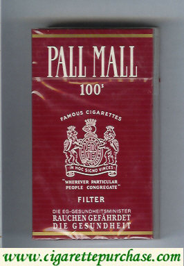 Discount Pall Mall Famous Cigarettes Filter 100s cigarettes hard box